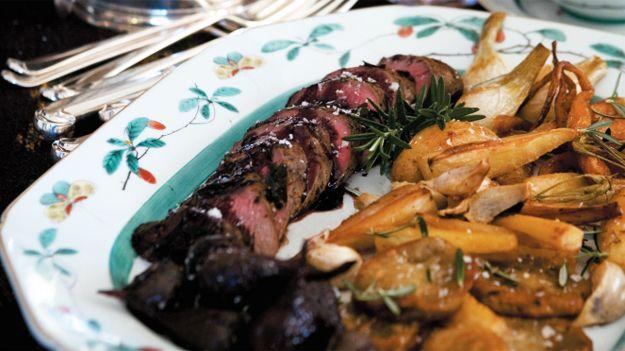 Roast venison (arrosto di cervo)