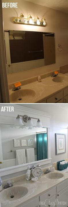 Bright and Beautiful Budget Bathroom Remodel. For less than $100!