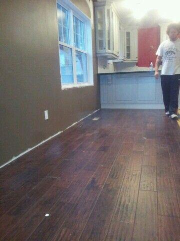 Installing hardwood flooring in living/dining room ♥