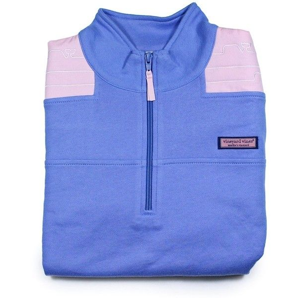 Vineyard Vines Womens Whale Quilted Breaker Blue Pullover Shep Shirt ($110) ❤ liked on Polyvore featuring tops, jackets, quilted top, vineyard vines pullover, vineyard vines, blue top and pullover shirt