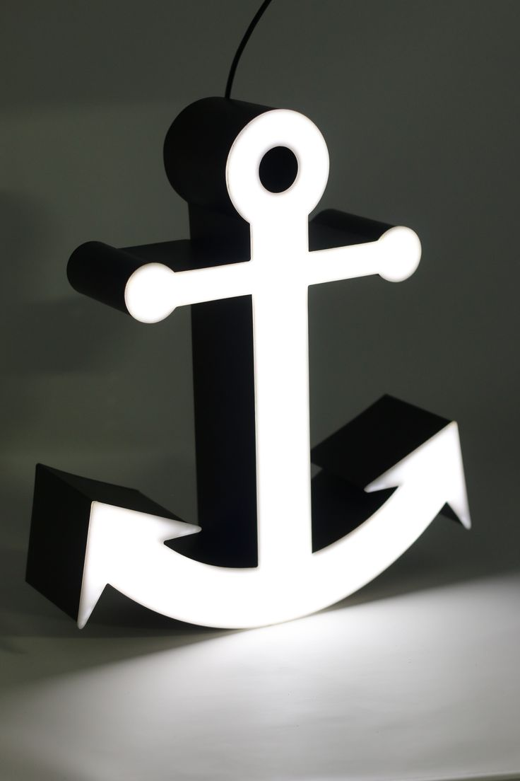 Anchor @ LAMBO Collection, Illuminated Marquee Lighting, a product ready in a luxury packaging, perfect for gift