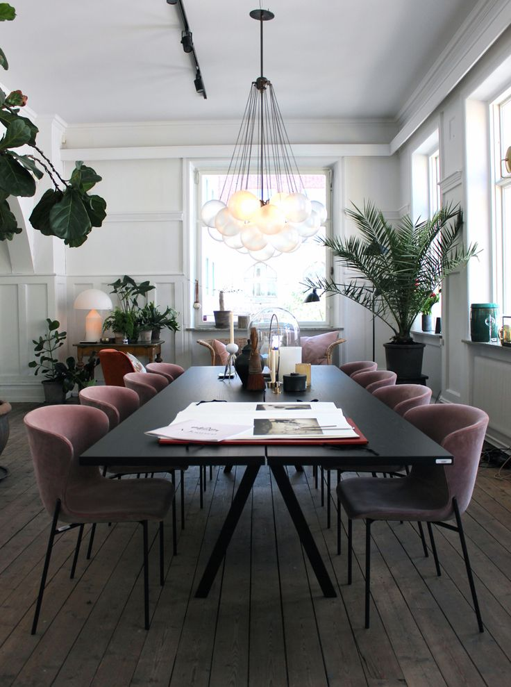 Mauve dining chairs