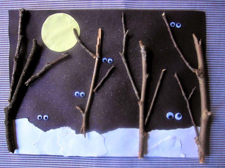 Okulöncesi Sanat ve Fen Etkinlikleri: Gece Çalışması