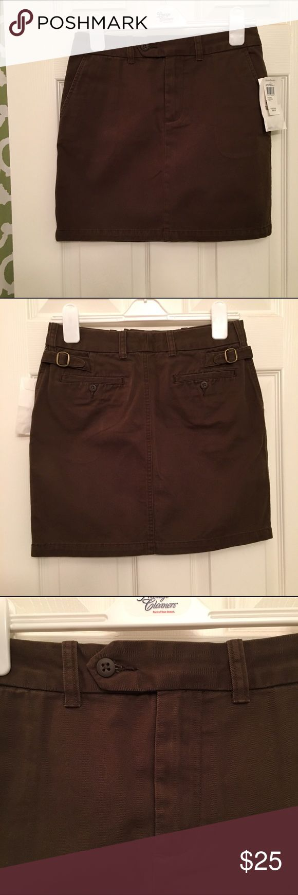 NWT Brown Ralph Lauren Pencil Skirt NWT brown pencil skirt. Gold clasp detail on the back. Ralph Lauren Skirts Pencil