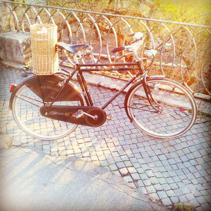 Ok la bici vintage ma il cestino in vimini non si batte! Ptitzeldaday8