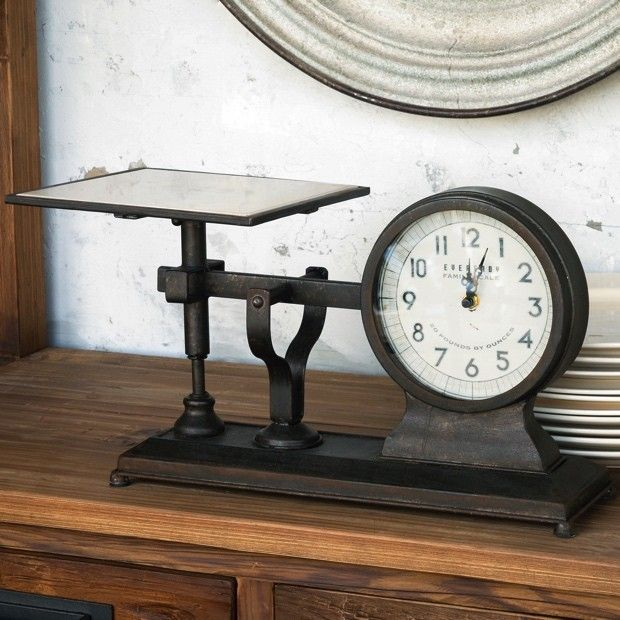 Decorative Hardware Scale Clock