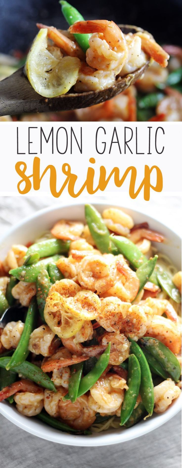 #ad A fast + fabulous recipe for Lemon Garlic Shrimp. The light and zesty lemon garlic sauce clings to every bite for an amazing meal.    Make this recipe easy with @PAM Cooking Spray from @Walmart.  #YouPAMDoIt #PAMInControl #lemongarlicshrimp