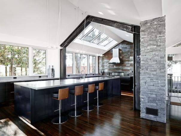 Photo of Black Eclectic Kitchen project in San Francisco, CA by Moroso Construction Inc.