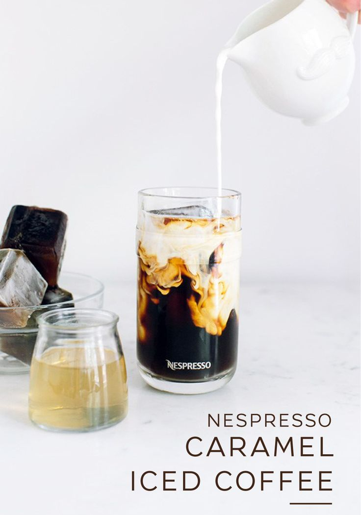 Sweet and creamy all at once, this Nespresso Caramel Iced Coffee is the perfect way to start every morning. Savor the bold intensity of Nespresso Grand Cru as it mixes with a homemade caramel sauce and rich cream. Pro tip: you can make your favorite Grand Cru ahead of time and freeze it into coffee ice cubes for even more of that great Nespresso taste.