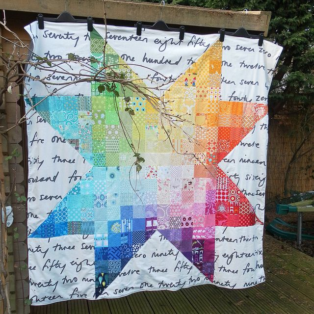 Holy toledo.Stars Quilt, Fly Blinds, Rainbow Quilt, Cherries Stars, Star Quilts, Rainbows Quilt, Beautiful Quilt, Rocket Cycling, Sewing Machine