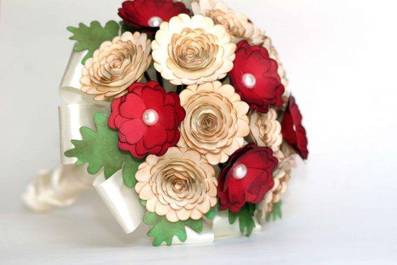Paper Wedding Bouquet Paper Bouquet Bridal by ELineCreations, $75.00