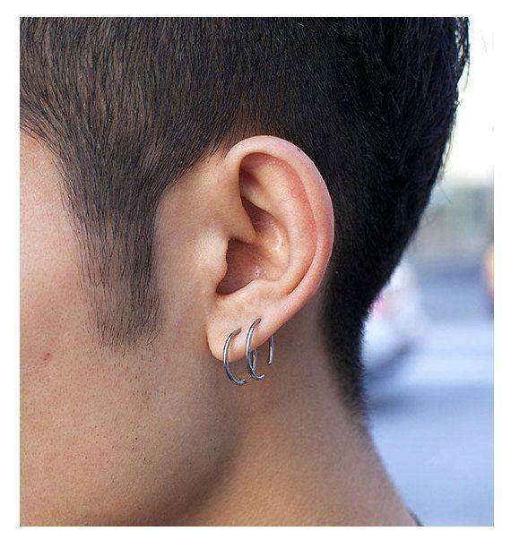 Fashion Mens Earrings Unisex Hoop Earrings