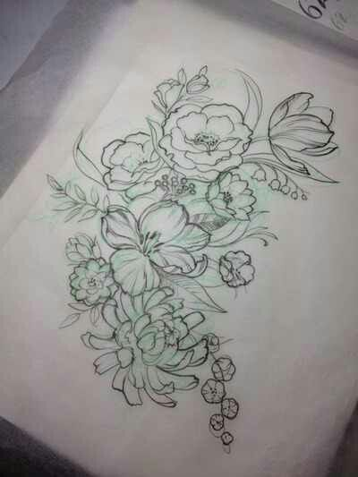 floral tattoo for my thigh??