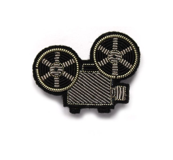 small embroidered projector pin