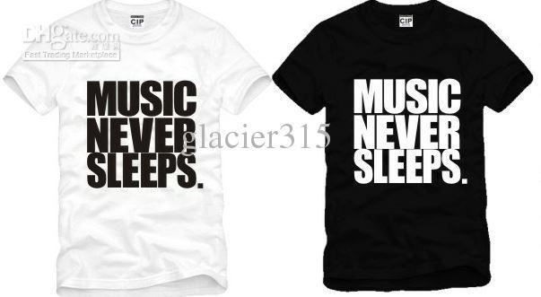 New Arrival Music Never Sleeps Printed Music T Shirts Fasion Jason Chen Music T Shirt 100% Cotton Size: S Xxxl Hilarious T Shirts Designer T Shirt From Glacier315, $11.7| Dhgate.Com