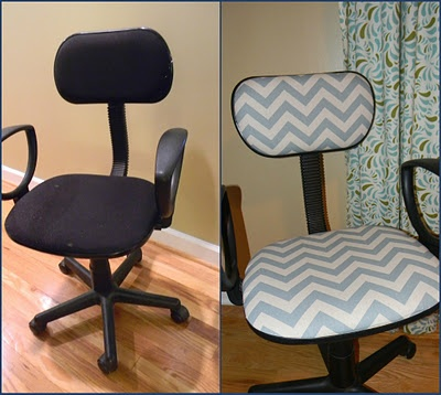 Recover an office chair.  Just in time for my office redo!