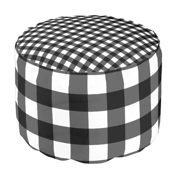 Marvelous Black And White Buffalo Check Pouf Zazzle Com In 2019 Bralicious Painted Fabric Chair Ideas Braliciousco