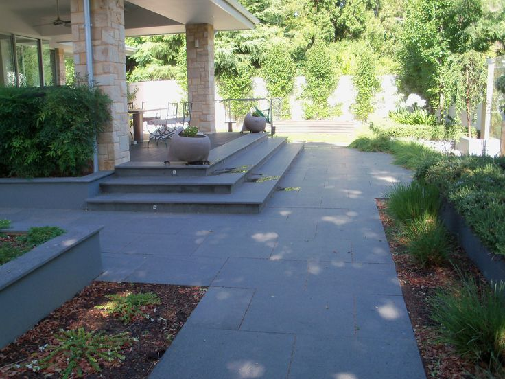 #Bluestone steps and garden path.