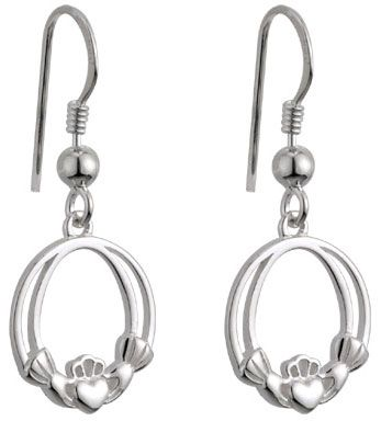 Sterling Silver Claddagh Drop Earring #claddagh #valentinesdaygifts $39.00