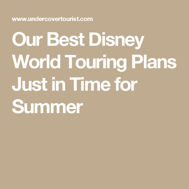 Our Best Disney World Touring Plans Just in Time for Summer