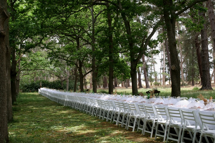 Country / Outdoor wedding, wedding table, design by Bay Leaf Catering