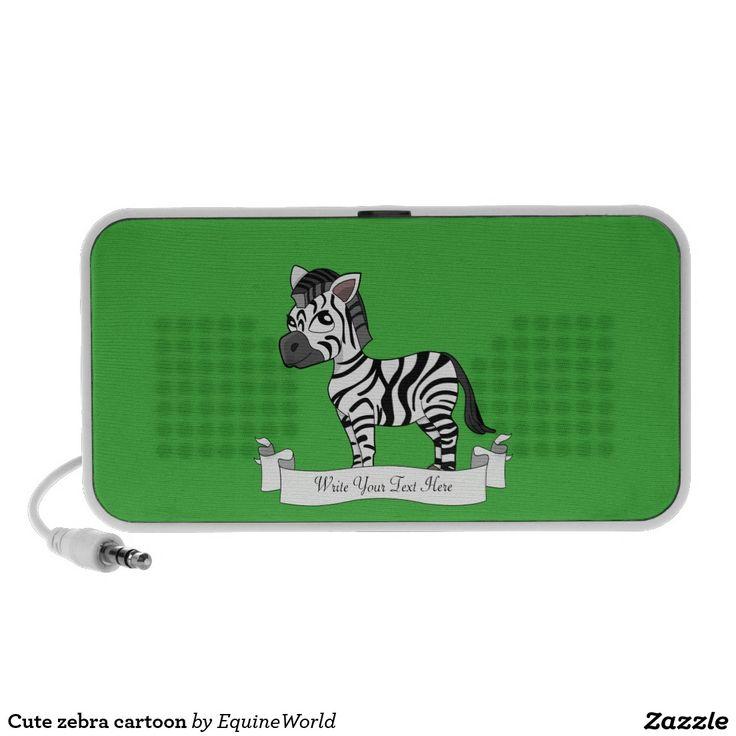 Cute zebra cartoon mp3 speakers