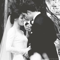 Breaking dawn is probably my favorite twilight Bella is stunning in her wedding dress xo
