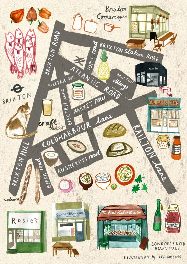 London food walk illustrated: Brixton Village
