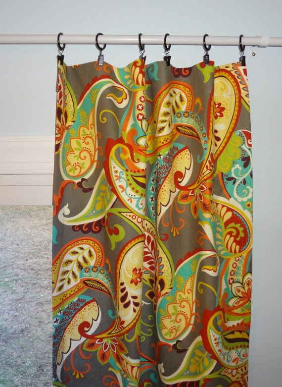 Curtain Panels Paisley Multi Color Curtain Panels by HomeLiving, $79.00