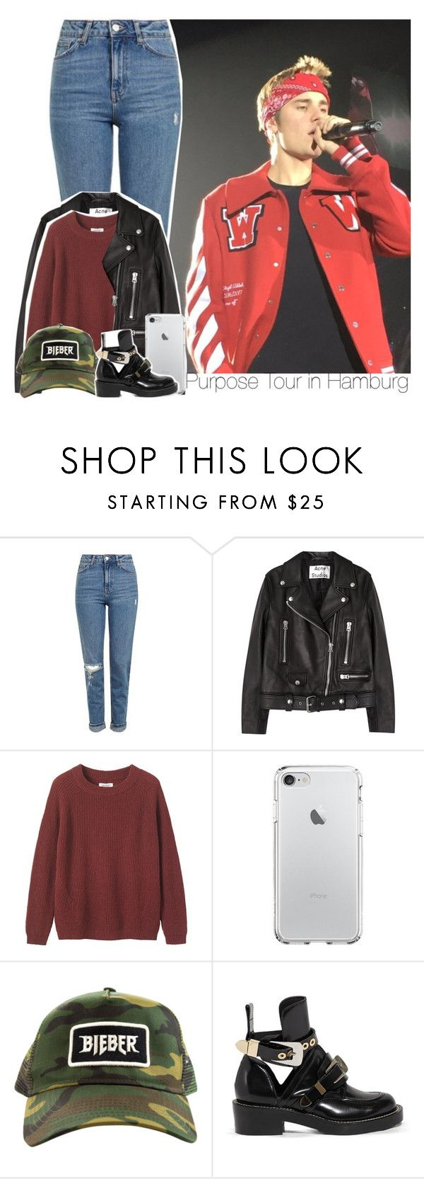 """Purpose Tour in Hamburg"" by chocapiick ❤ liked on Polyvore featuring Topshop, Acne Studios, Toast, Balenciaga, JustinBieber, PurposeTour and PurposeTourHamburg"