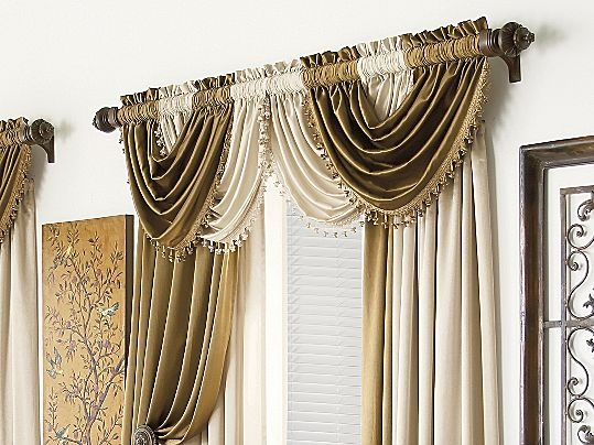 Superb Royal Velvet® Hilton Rod Pocket Waterfall Valance | Valance, Royals And Rod  Pocket