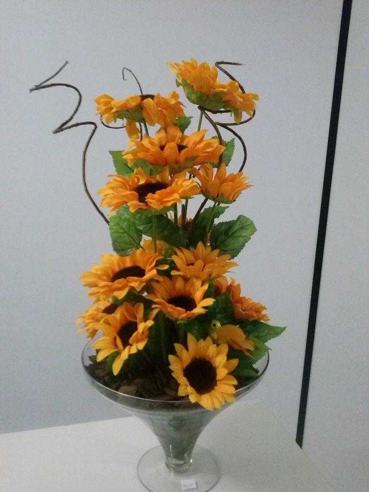 Adesivo De Borboleta Para Geladeira ~ arranjo de girassol #artesanato #flores Kasu Presentes (Artesanatos) Pinterest Arranjos de