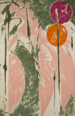 'Invocation' (1970-71) by American painter Lee Krasner (1908-1984). Oil on canvas. collection: Sheldon Museum of Art. via Journal Star
