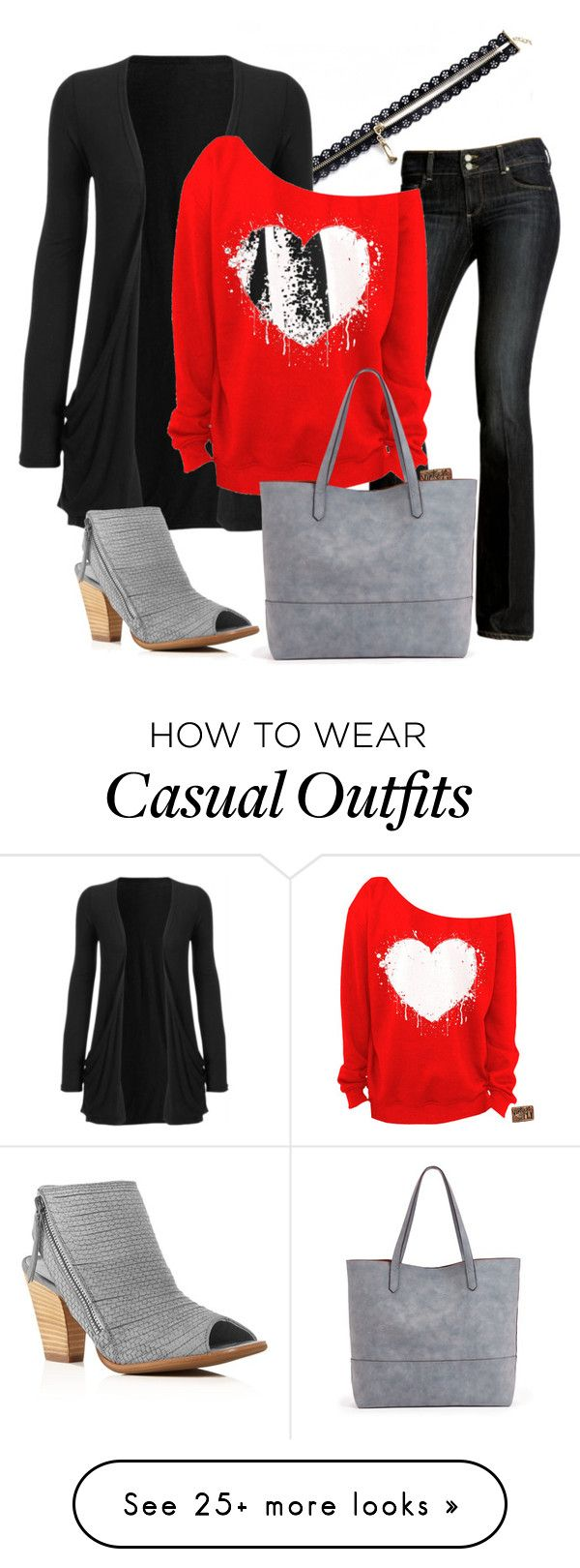 """Be my Valentine - Casual women's outfit"" by ninecarpstudiostore on Polyvore featuring Paige Denim, Sole Society, Paul Green, casual, outfit, Idea, valentine and fashionset"