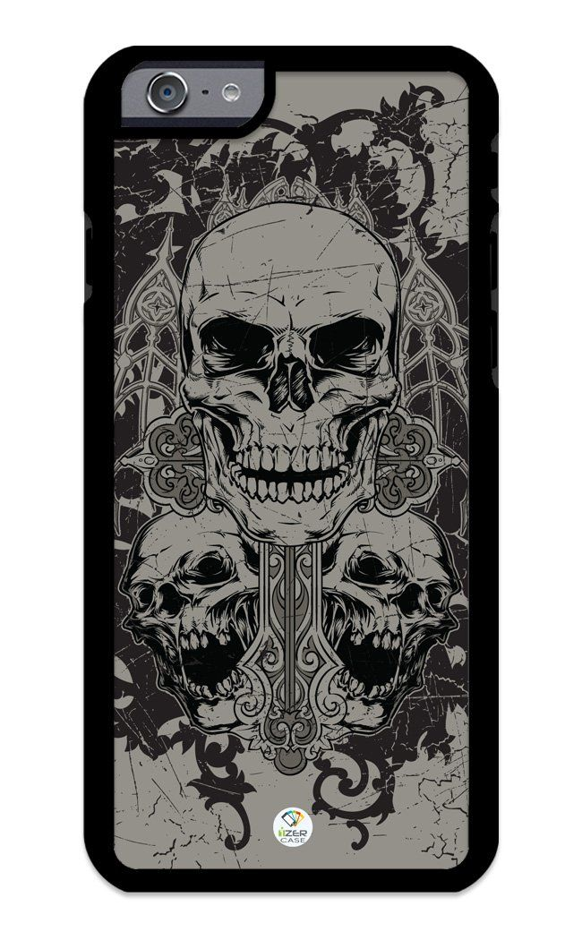 iZERCASE iPhone 6 PLUS, iPhone 6S PLUS Case Three Skulls Gothic RUBBER CASE - Fits iPhone 6 PLUS, iPhone 6S PLUS T-Mobile, Verizon, AT&T, Sprint and International. COLOR OPTIONS: Our rubber cases come in black and white options as shown in pictures above.