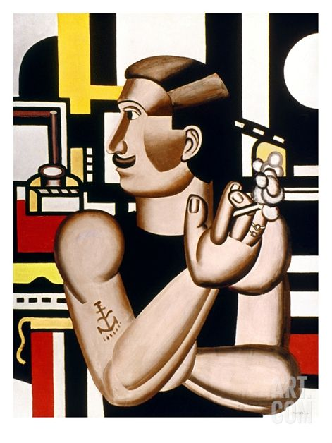 Leger: Mechanic, 1920 Print by Fernand Leger at Art.com