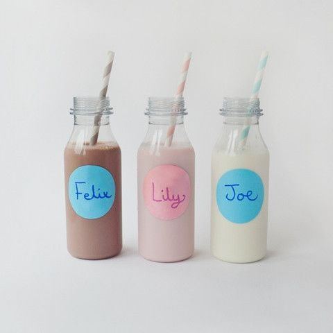Plastic Drinks Bottles (6 Bottles) from Pretty Little Party Shop - Stylish Party