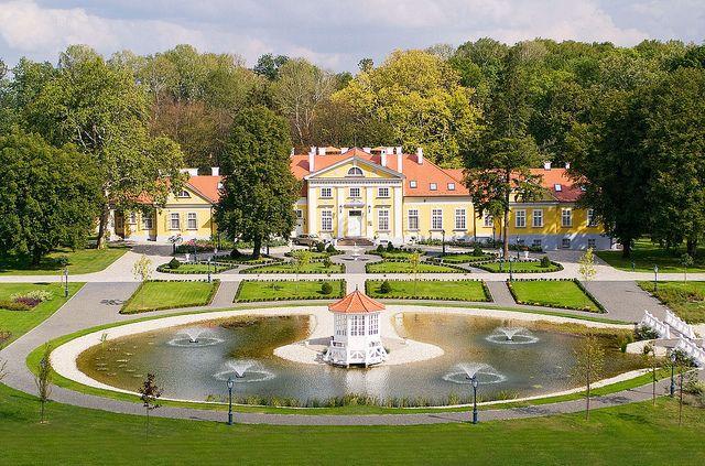 Hertelendy Kastély. Hotel and restaurant in a park. Hungary,Kutas-Kozmapuszta.