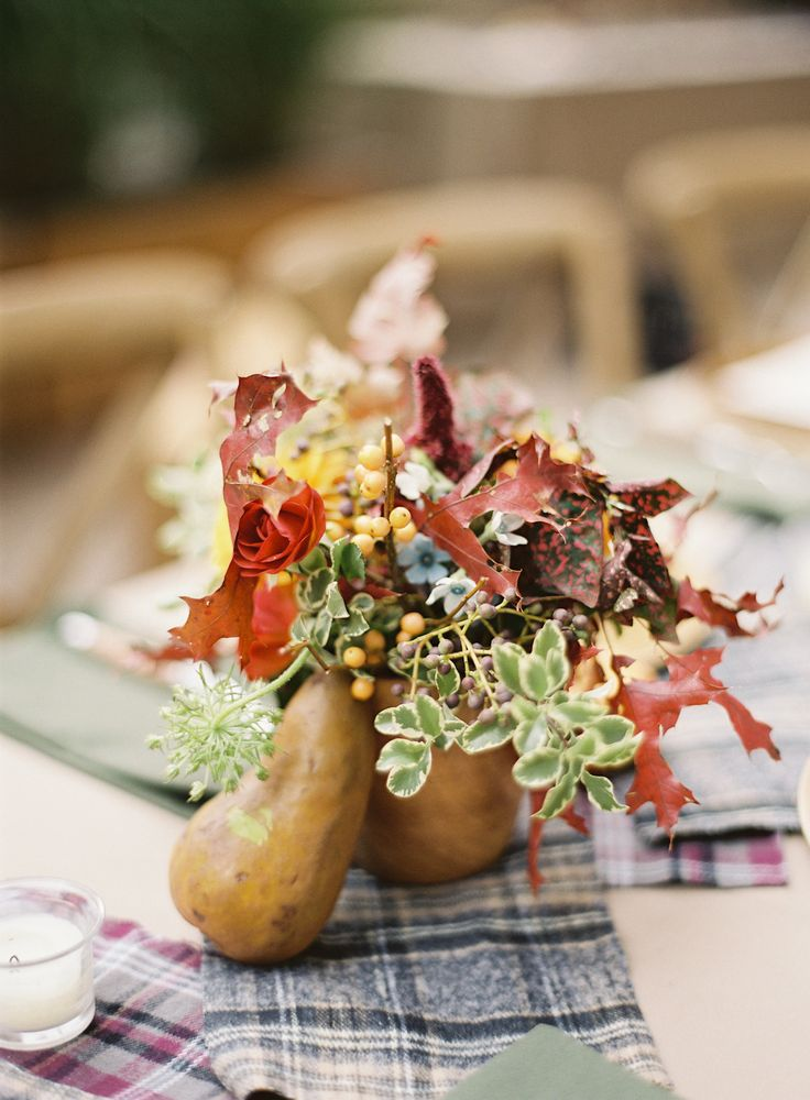 Autumn wedding centerpieces | itakeyou.co.uk