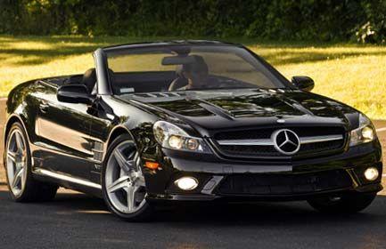 Elliot's black Mercedes Benz convertible, Mercy