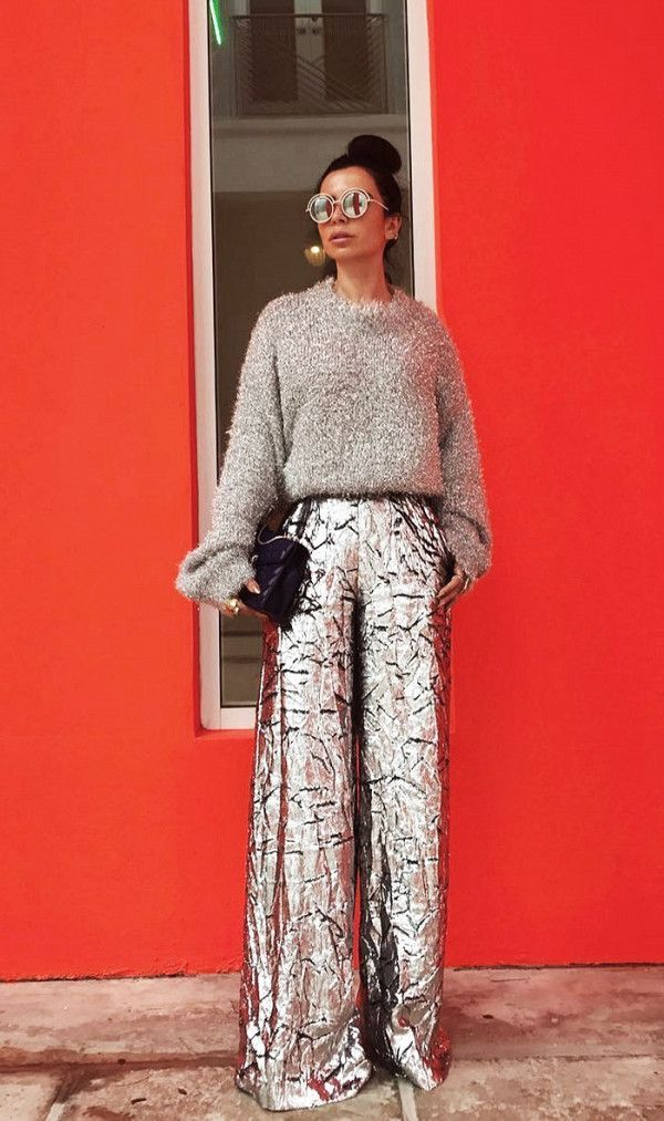 Image result for holiday party outfits 2017 metallic