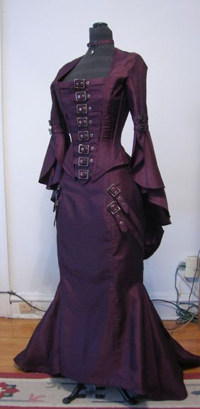 gorgeous Victorian-inspired dress with buckles - online portfolio of Jen Haley