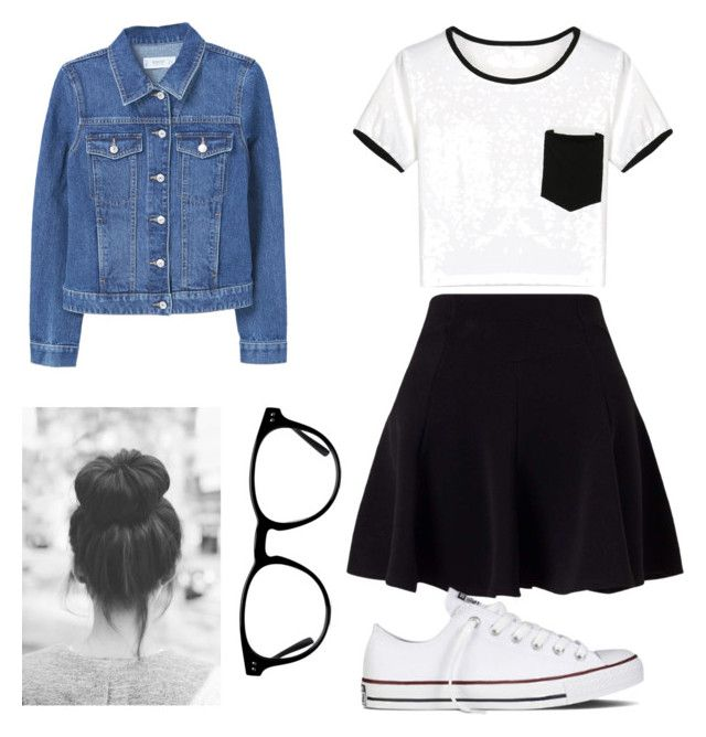 """""""Skater Casual"""" by londonkat on Polyvore featuring WithChic, Miss Selfridge, Converse and MANGO"""