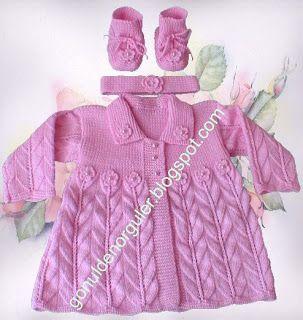 Bebekler ve çocuklar için, Gönülden örülenler.: Kız bebek hırkası, Bebek hırkaları 1