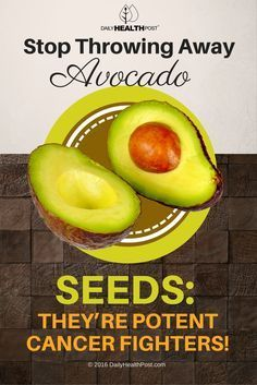 Stop Throwing Away Avocado Seeds: They're Potent Cancer Fighters! via /dailyhealthpost/ | http://dailyhealthpost.com/why-you-should-eat-that-avocado-seed-and-how-to-make-it-tasty/