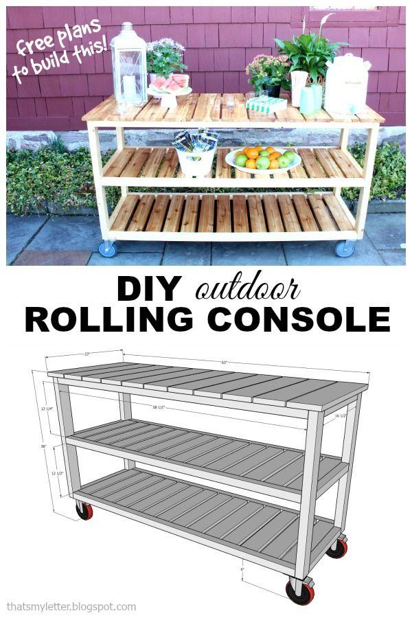 Wooden Patio Serving Carts ~ Best outdoor serving cart ideas on pinterest