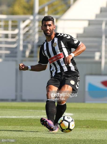 Nacional defender Diogo Coelho in action during the Segunda Liga match between SL Benfica B and CD Nacional at Caixa Futebol Campus on August 13 2017...