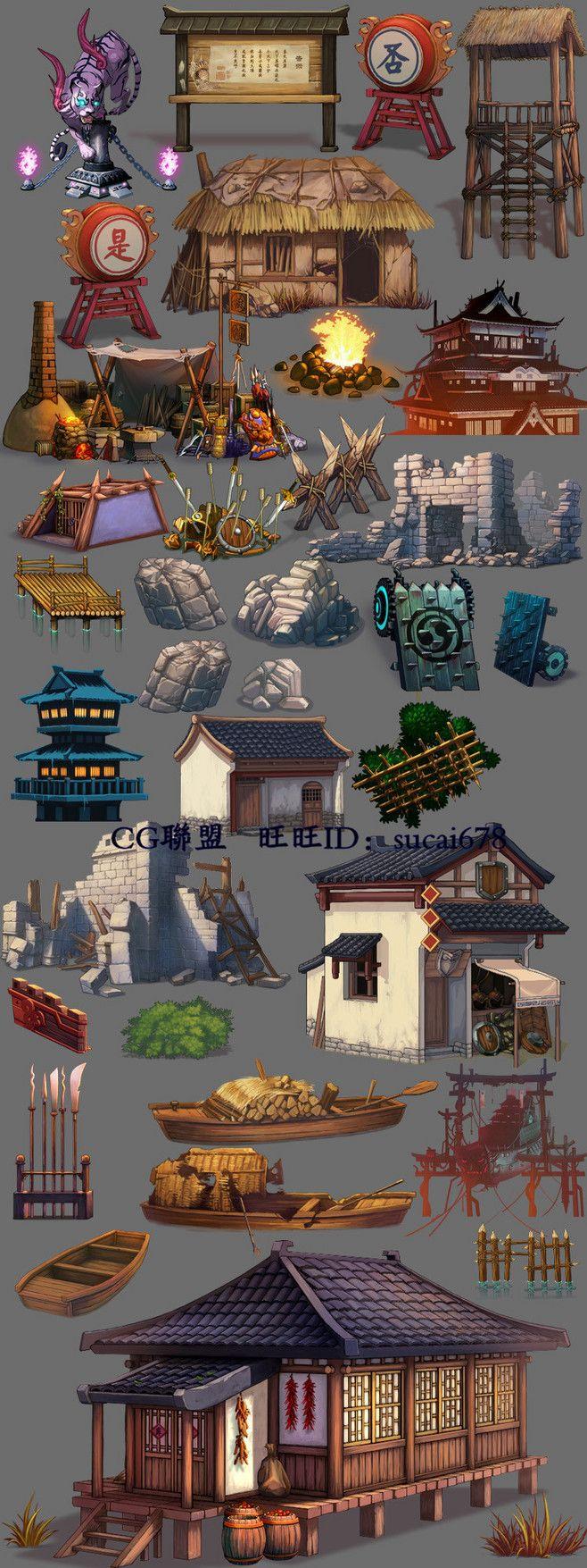 N25游戏场景素材/2D资源 横版地图 ...