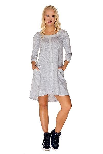 Vestito premaman & allattamento Molly grigio - My Tummy - Abbigliamento Premaman, Vestiti Premaman, Abiti per Allattamento