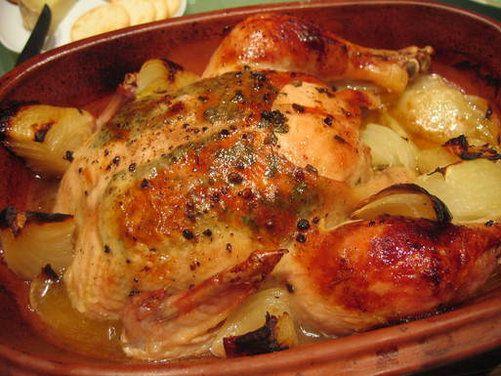 Lemon Herb Chicken in Clay Pot.  Hypoglycemic Friendly Recipe Diabetic Friendly Recipe Whole Foods Recipe